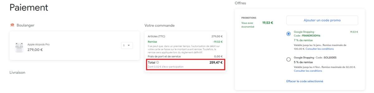 Soldes2020: le prix des AirPods Pro d'Apple diminue grâce à notre code exclusif