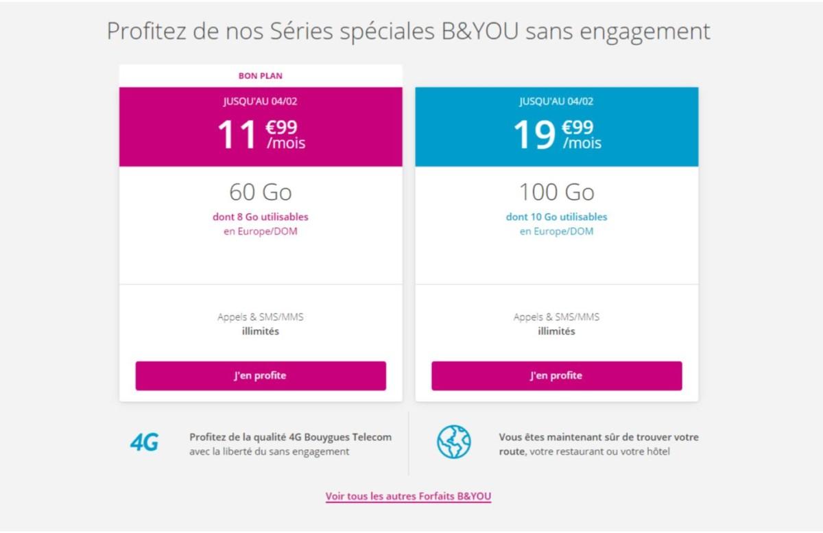 B&You veut faire mieux que RED avec son nouveau forfait 60 Go à 11,99 euros par mois