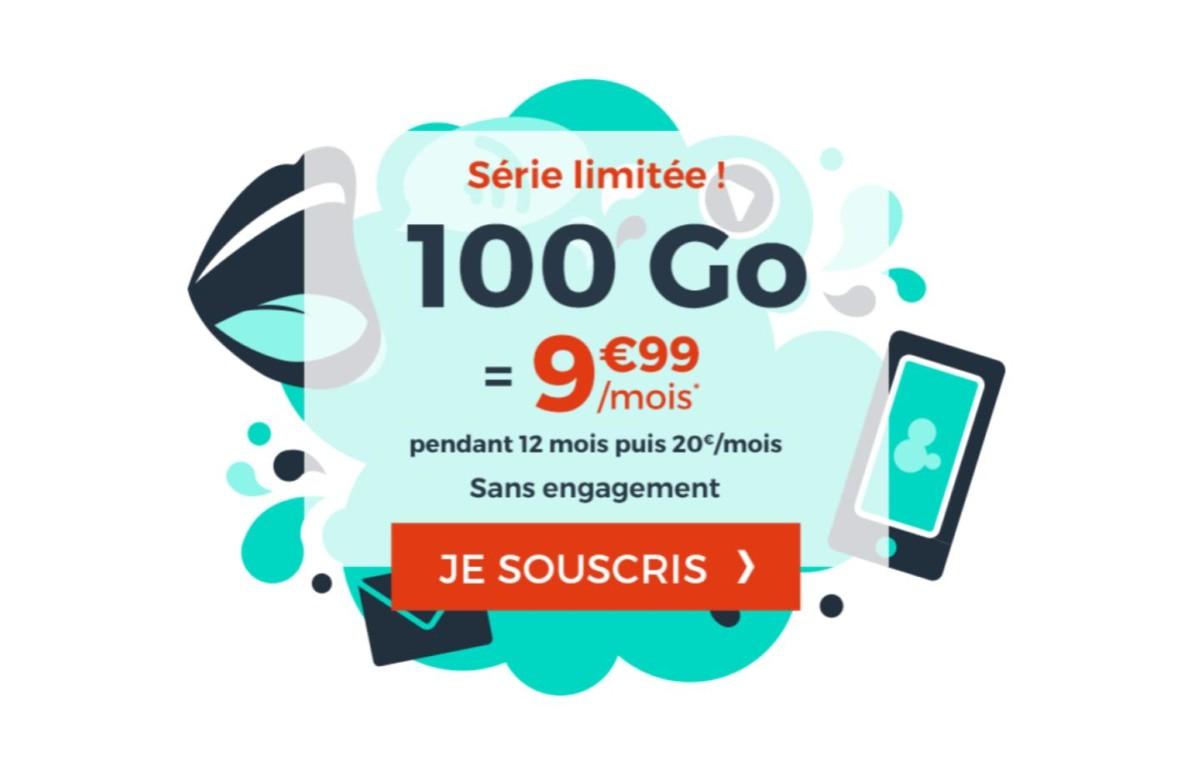 Moins de 10euros par mois pour ce forfait mobile avec 100Go de 4G