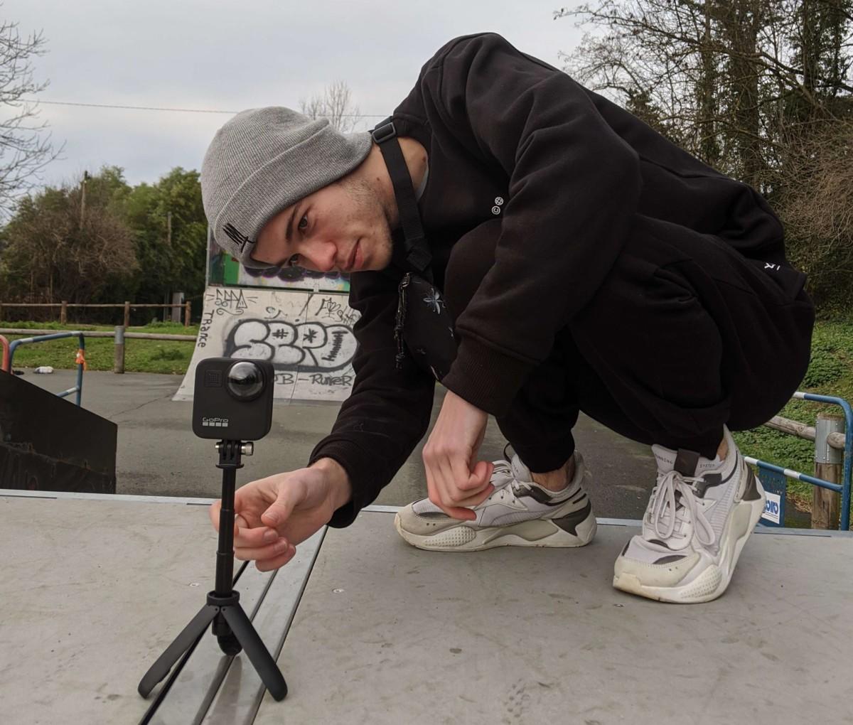 La Max au skatepark