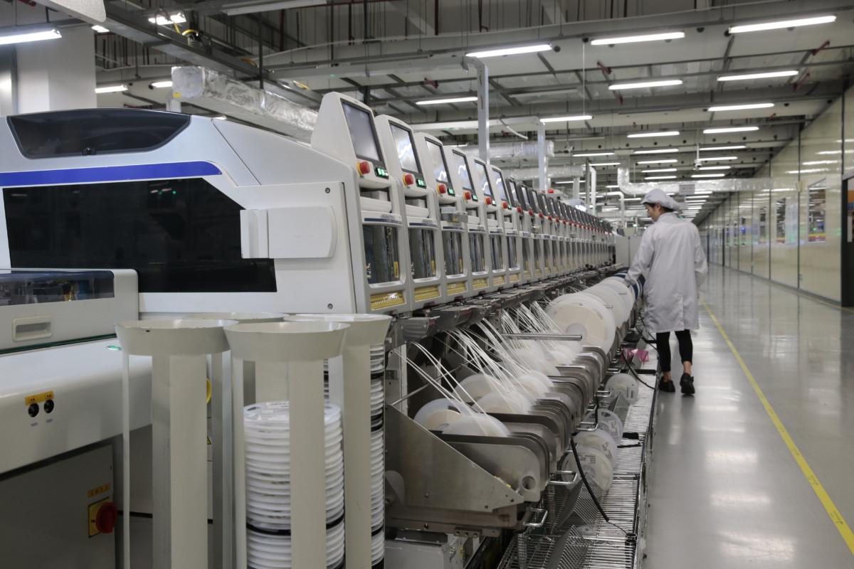 Ici sont fabriqués des HuaweiP30(Crédits image: Huawei)