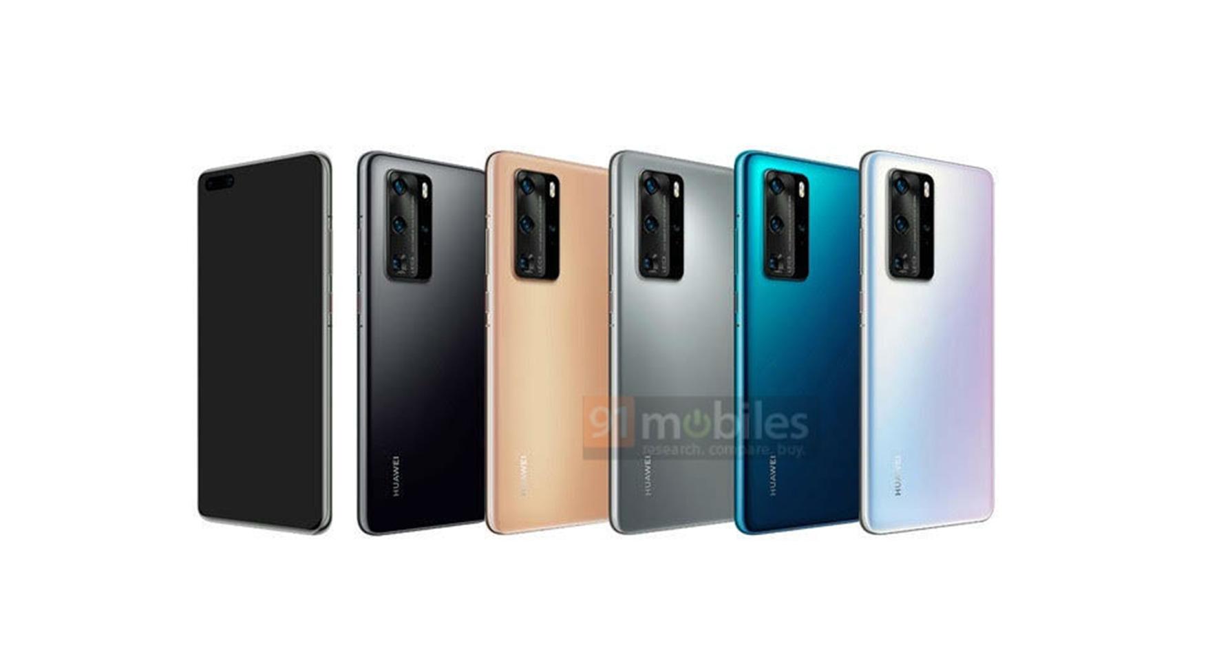 Huawei P40 et P40 Pro : après le design, ce sont les coloris qui se montrent