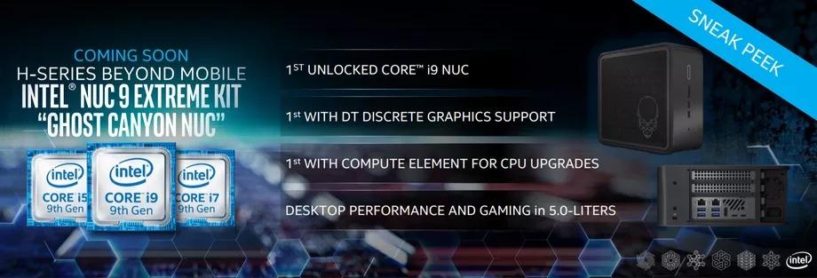 Intel NUC Ghost Canyon : un PC format console avec une vraie carte graphique