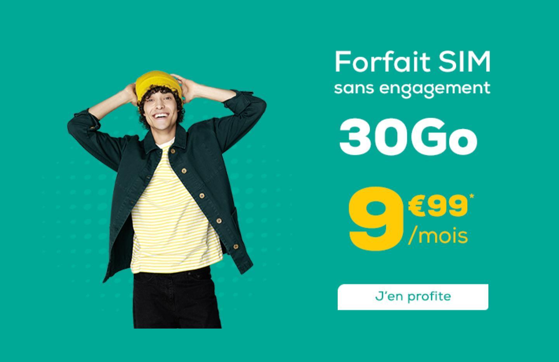 Un forfait mobile 30 Go pour moins de 10 euros par mois à vie, ça existe?