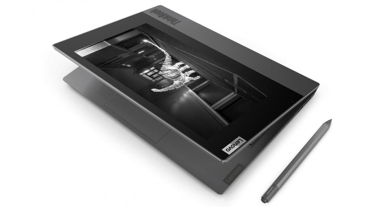 Le ThinkBook Plus et son écran e-ink