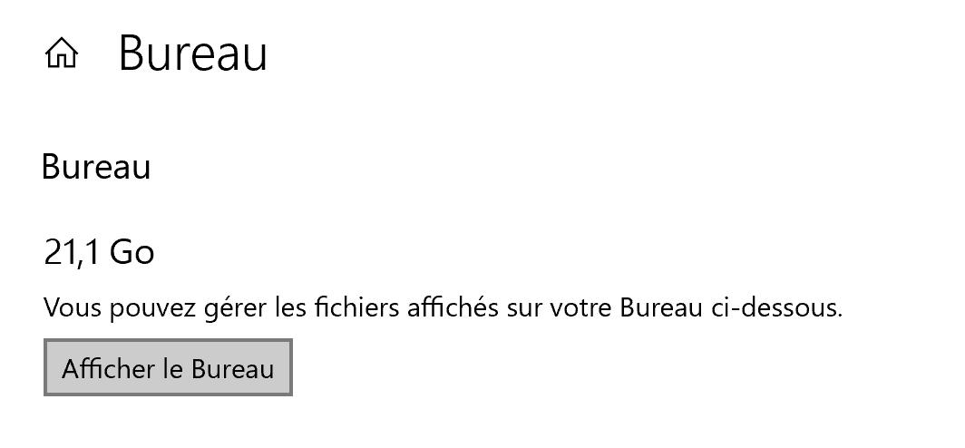L'assistant ne propose que d'ouvrir le dossier dans l'explorateur de fichiers