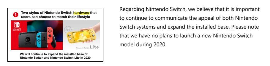 Nintendo Switch : en 2020, il n'y a pas de nouveau modèle « 4K » prévu