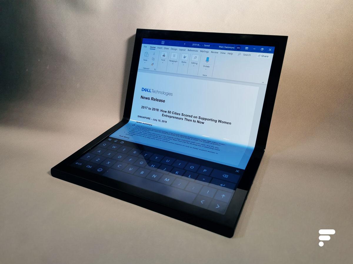 Prise en main du Dell Concept Ori : l'écran pliable veut révolutionner les ordinateurs