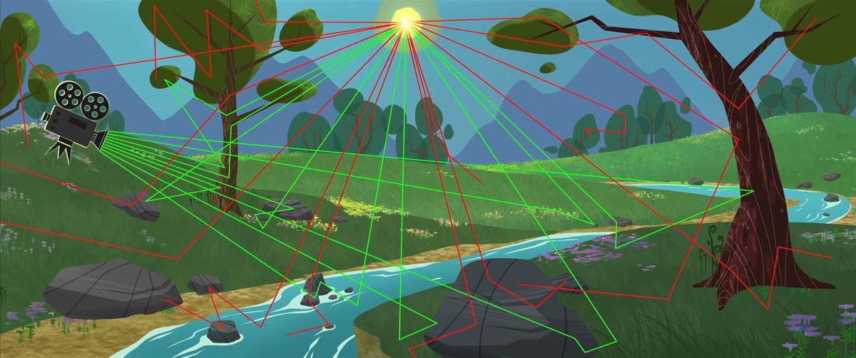En vert : les liens perçus par la caméra. En rouge : ceux exclus. (source : Walt Disney)