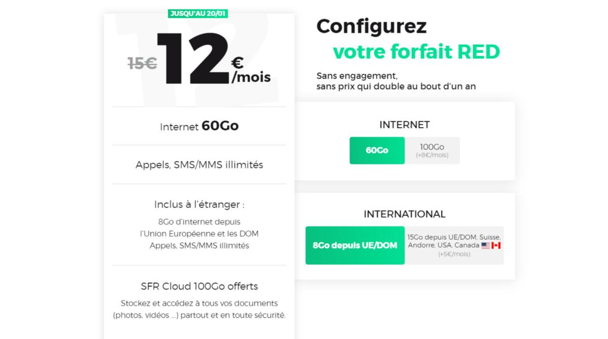 RED by SFR : le meilleur forfait du moment à 60 Go passe à 12 euros par mois