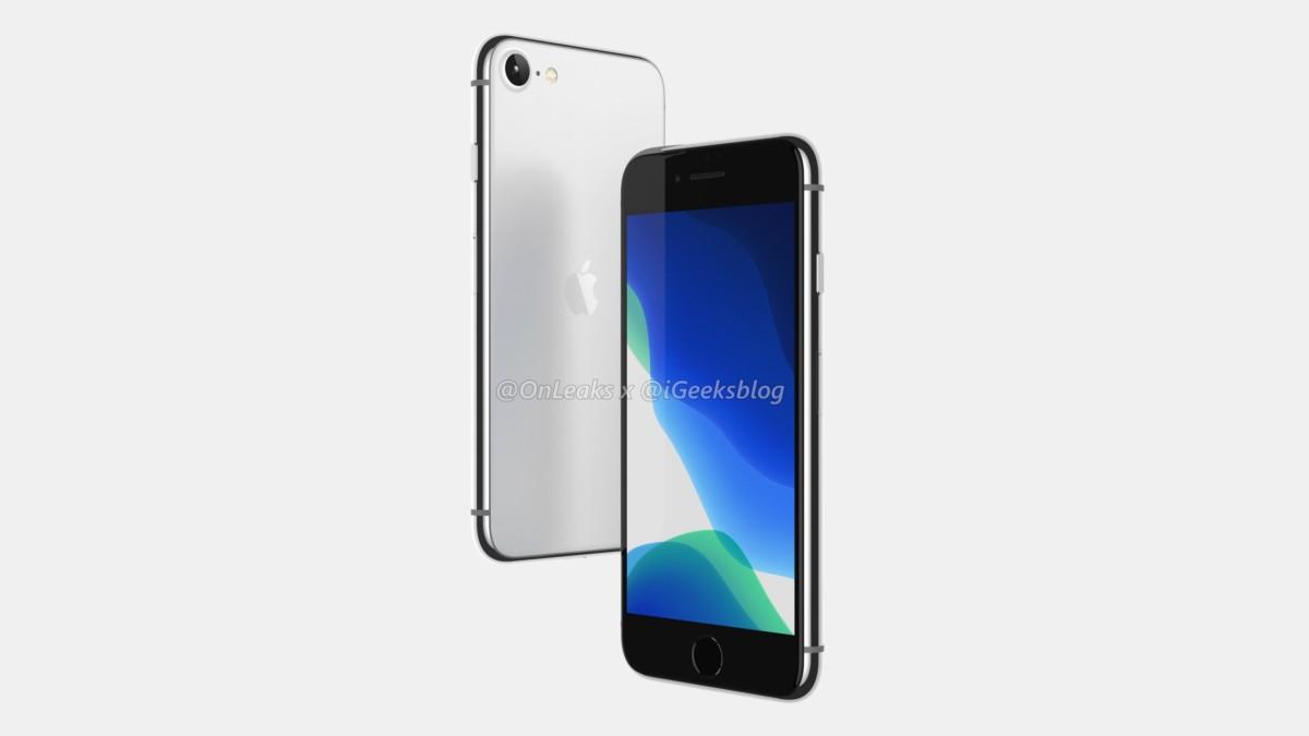 iPhone SE 2020, rendu par OnLeaks
