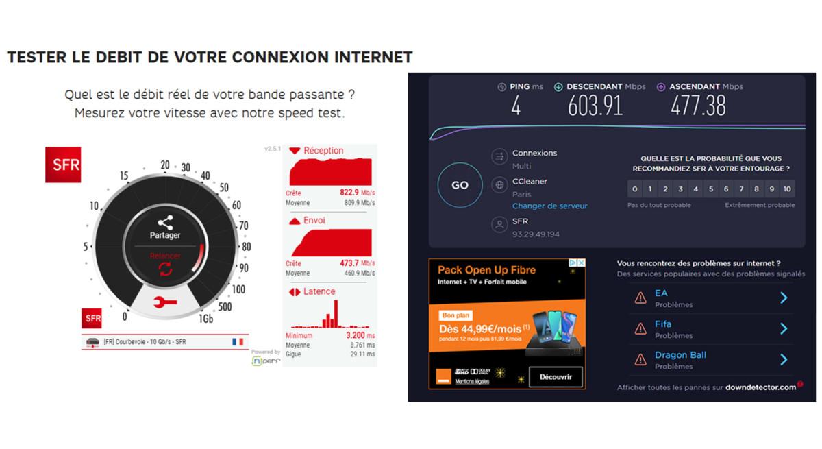 Notre débit, mesuré avec deux outils différents, dépasse les 800Mbits/s. Il devrait nous permettre d'obtenir la meilleure des qualités.