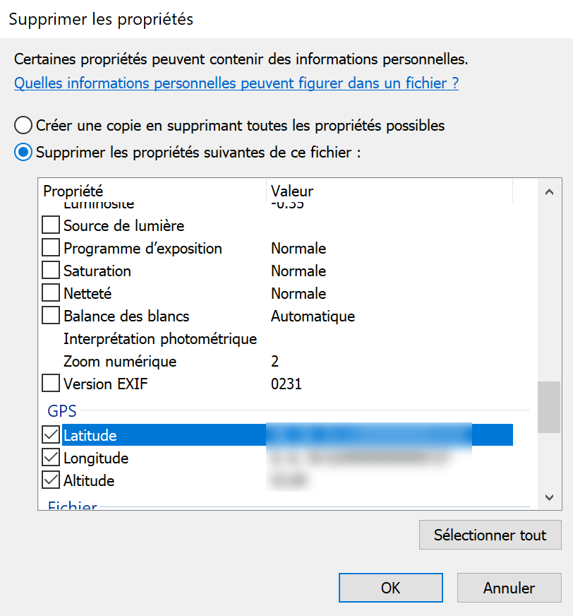 Comment supprimer les métadonnées EXIF de vos photos
