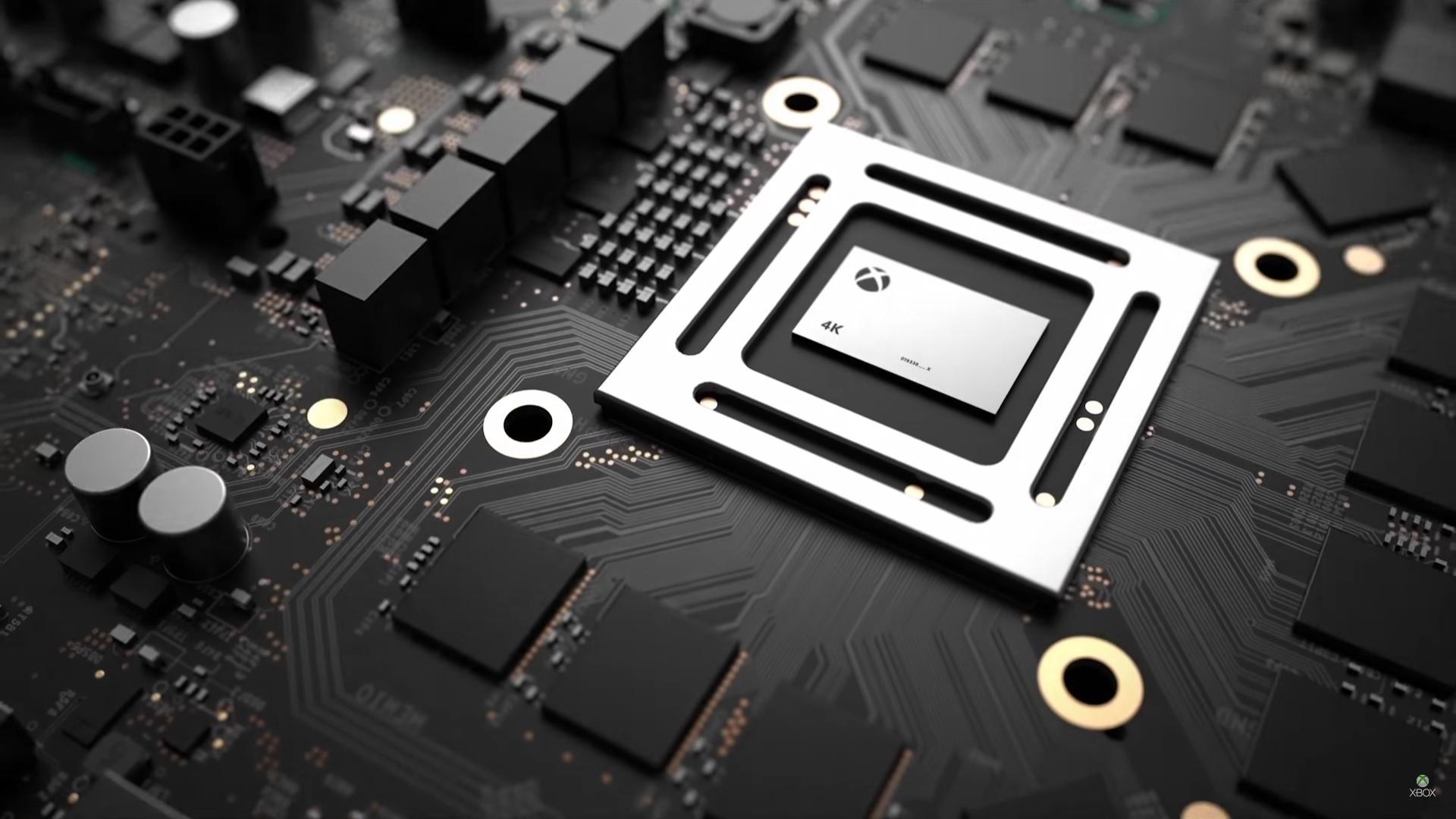 La puce de la Xbox One X pour illustration