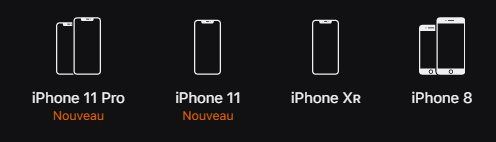 Gamme iPhone début 2020