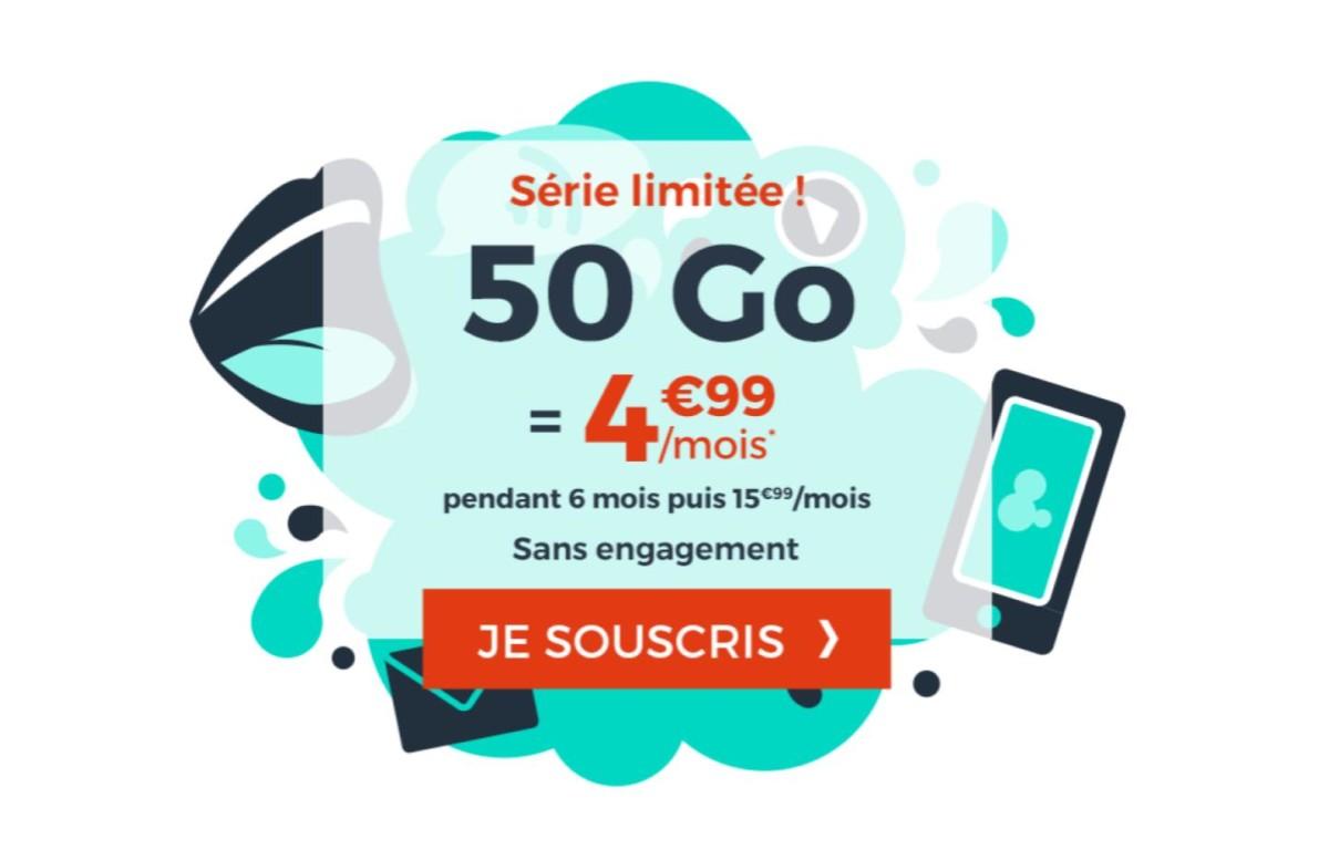Forfait mobile : 50 Go de 4G pour moins de 5 euros par mois, qui dit mieux ?