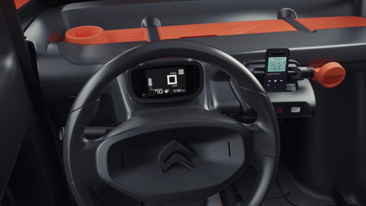 Habitacle de la Citroën Ami