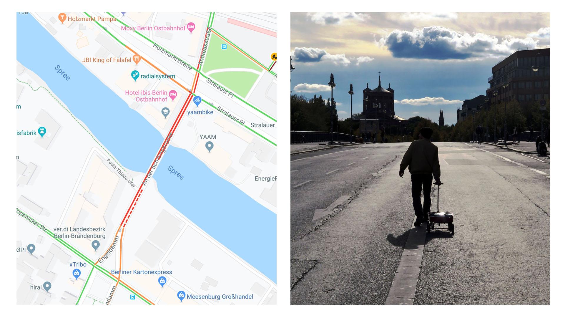 Il crée des embouteillages virtuels sur Google Maps