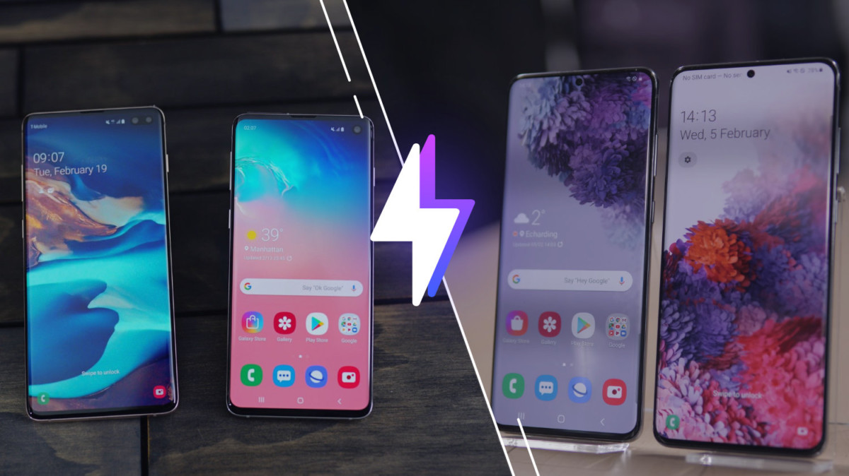 Galaxy S10 et S10+ vs Galaxy S20 et S20+