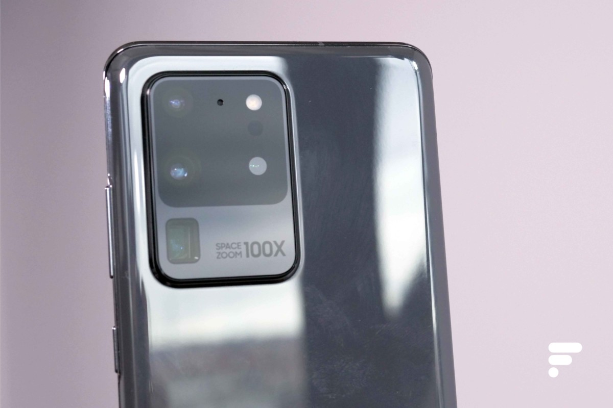 Le bloc photo du Samsung Galaxy S20 Ultra.