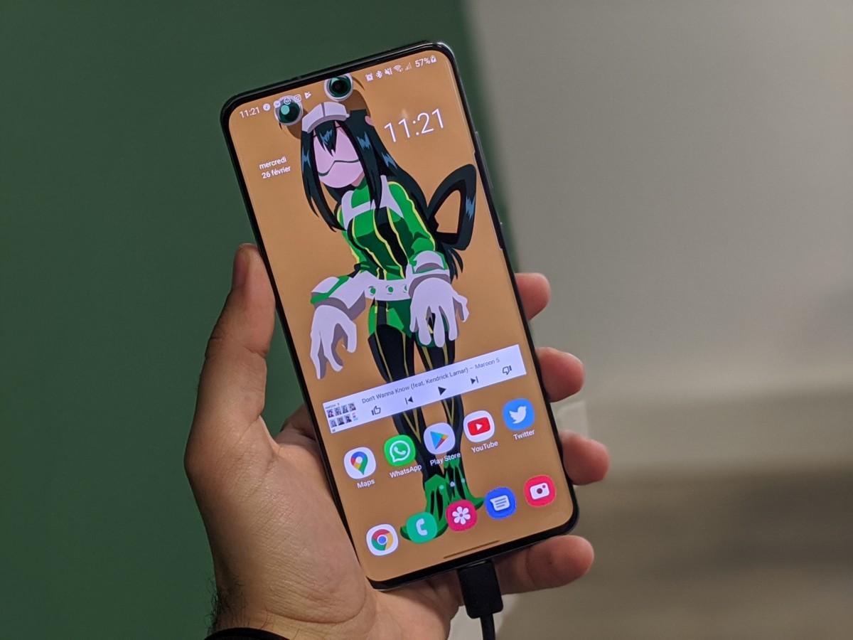 Notre Samsung Galaxy S20 Ultra en train de charger