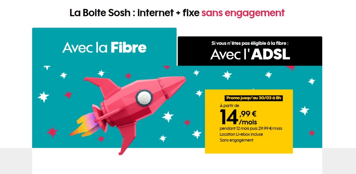 La Fibre optique au prix de l'ADSL : ça se passe aussi chez Sosh