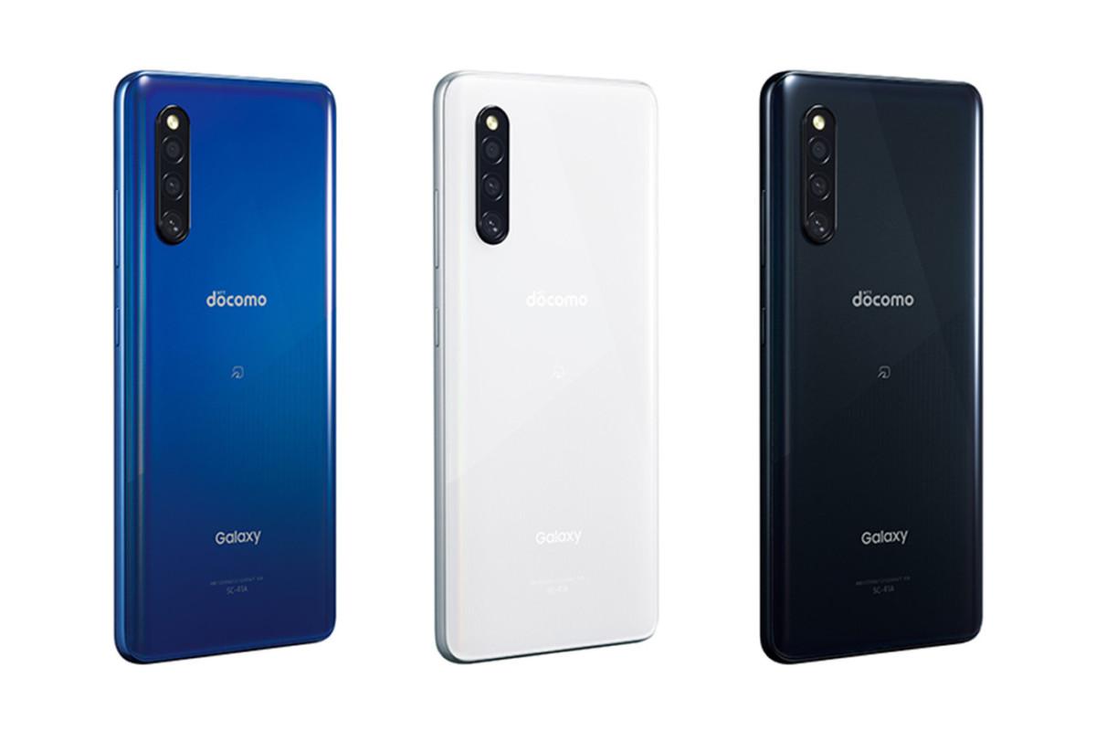 Le Samsung Galaxy A41 en bleu, blanc et noir