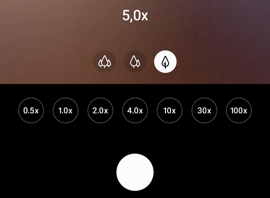 Le zoomx5 est mis en avant sur l'interface photo