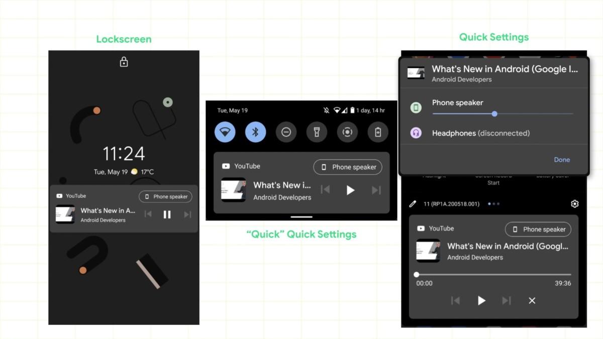 Contrôle multimédia sur Android 11