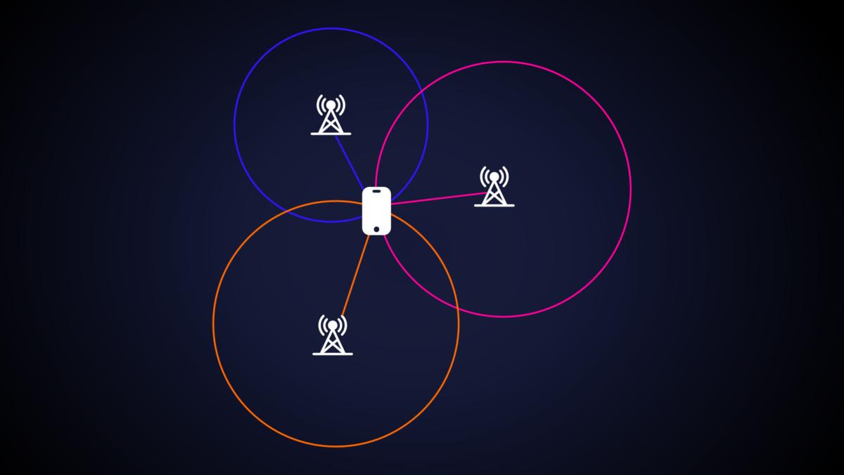 La triangulation d'un smartphone grâce aux antennes relais