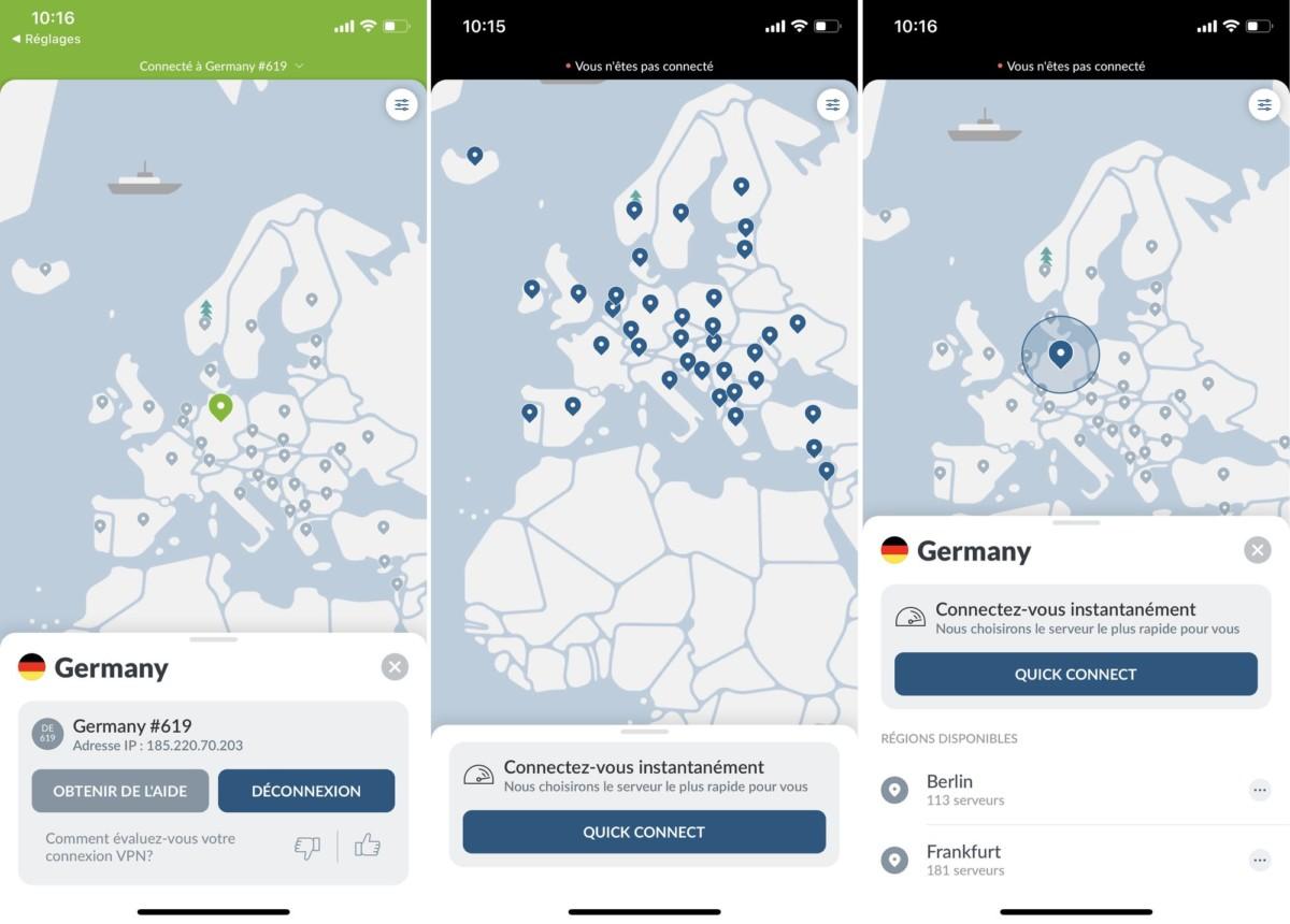 Contrairement à l'application desktop, l'application mobile est entièrement traduite en français