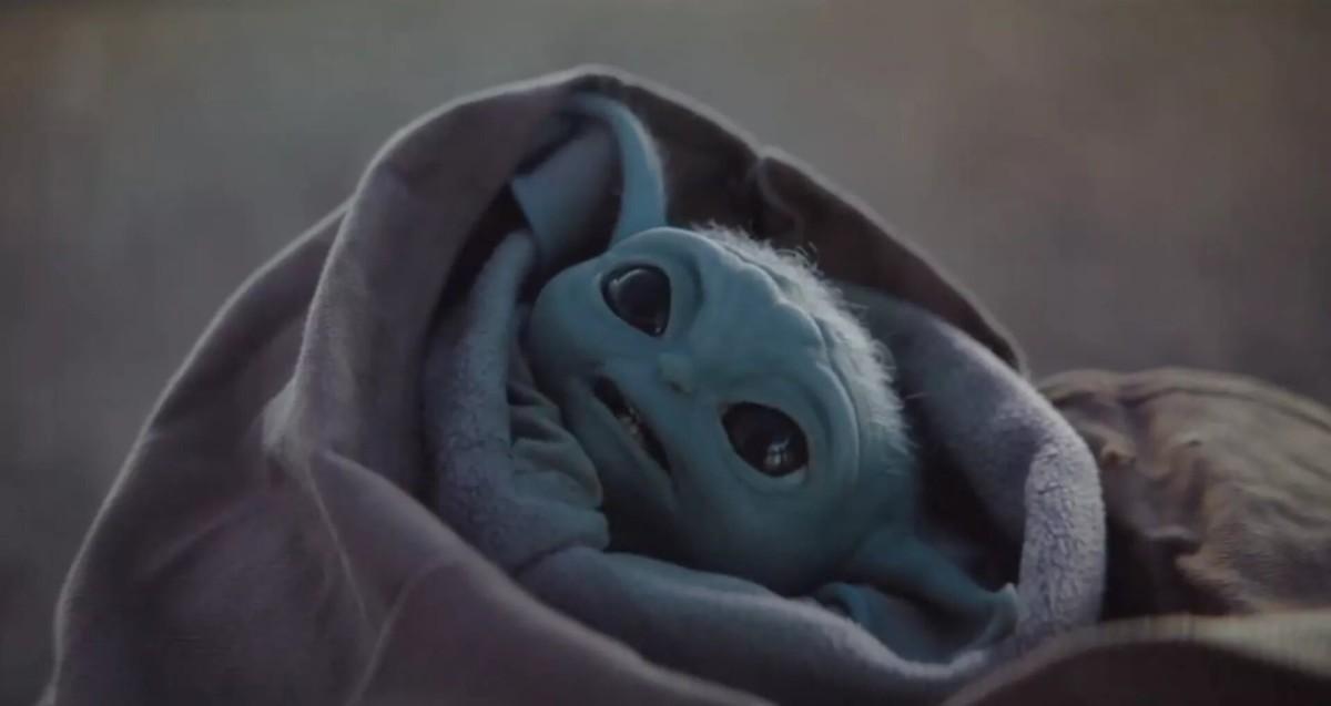 """""""Baby Yoda"""", personnage de la série exclusive The Mandalorian"""