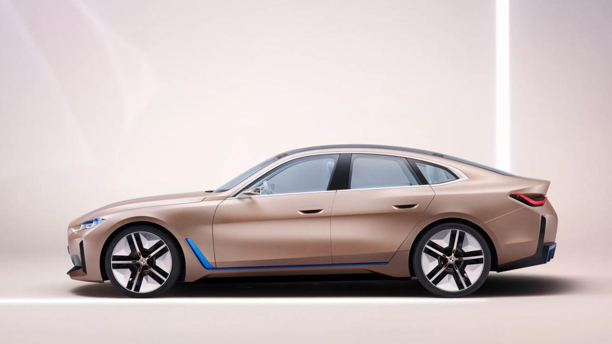 Le concept-car BMW i4 qui inspirera la future berline allemande.