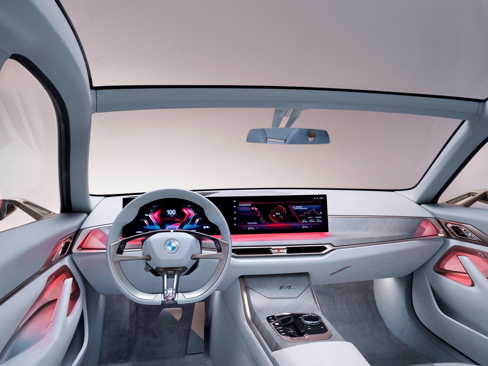 BMW i4 : le concept-car à 600 km d'autonomie montre son ...