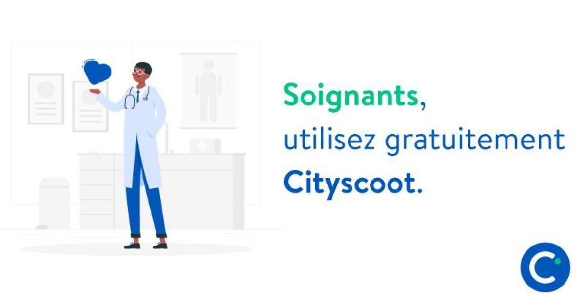 Cityscoot, solidaire avec le personnel médical