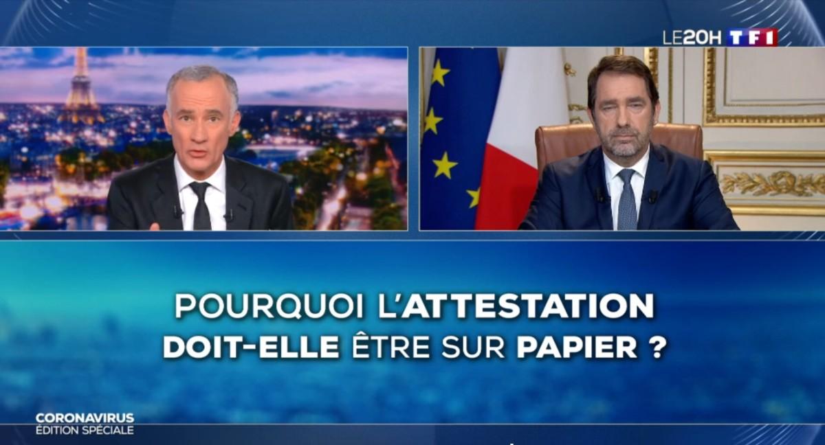 Christophe Castaner s'est exprimé au JT de 20h sur TF1.