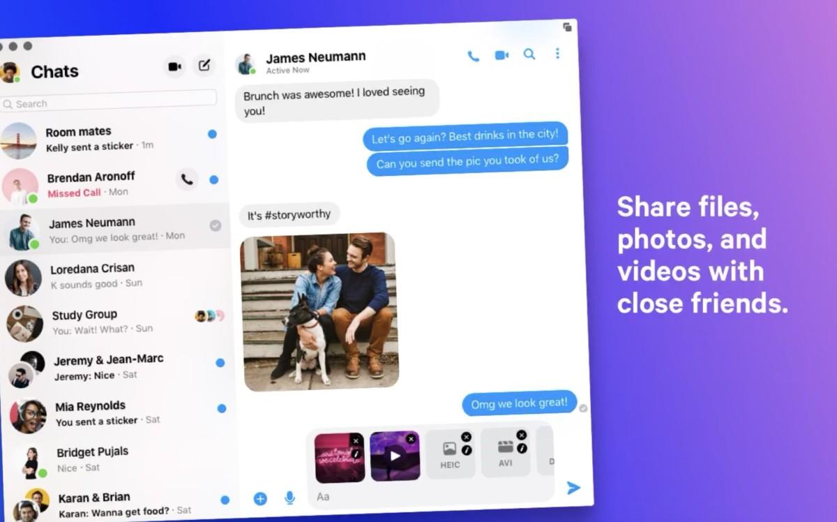 Facebook Messenger pour Mac arrive sur l'App Store