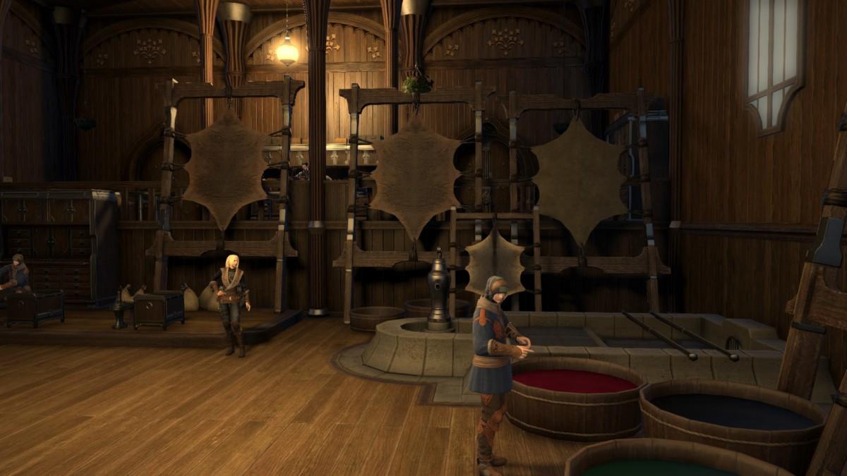 La Guilde des Tanneurs de Gridania forme qui le veut à l'art du cuir.