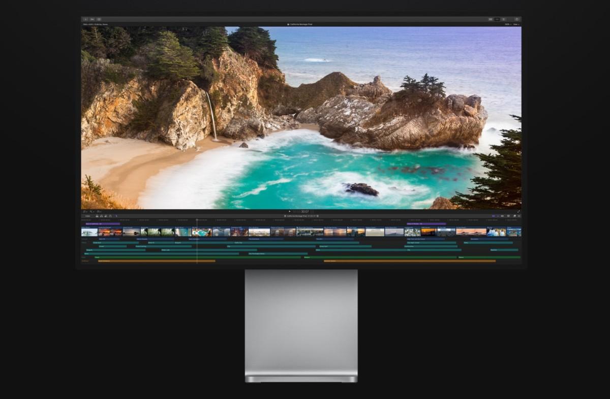 Final Cut Pro X sur l'écran Apple XDR