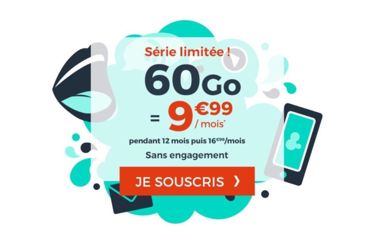 Prolongation pour le forfait mobile 60 Go à moins de 10 euros par mois