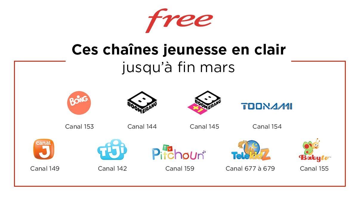 Chaines Freebox gratuites pour le confinement coronavirus