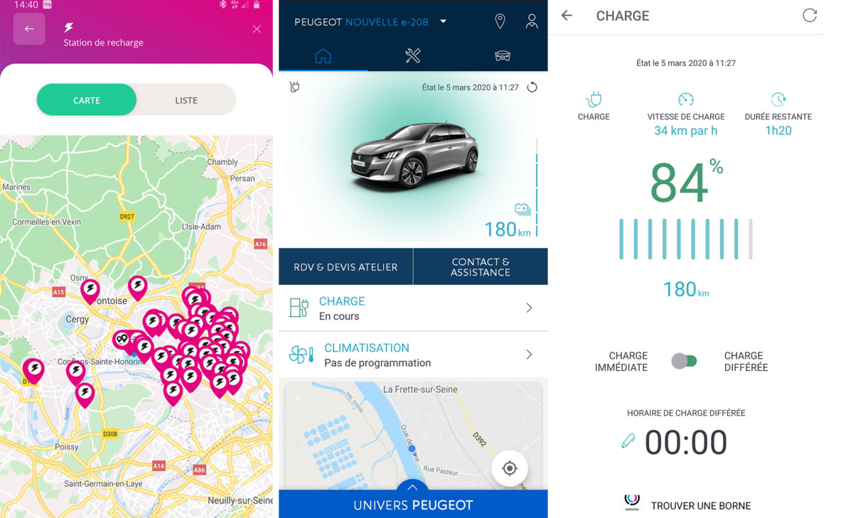 Free2Move et l'application My Peugeot permettent de gérer la charge