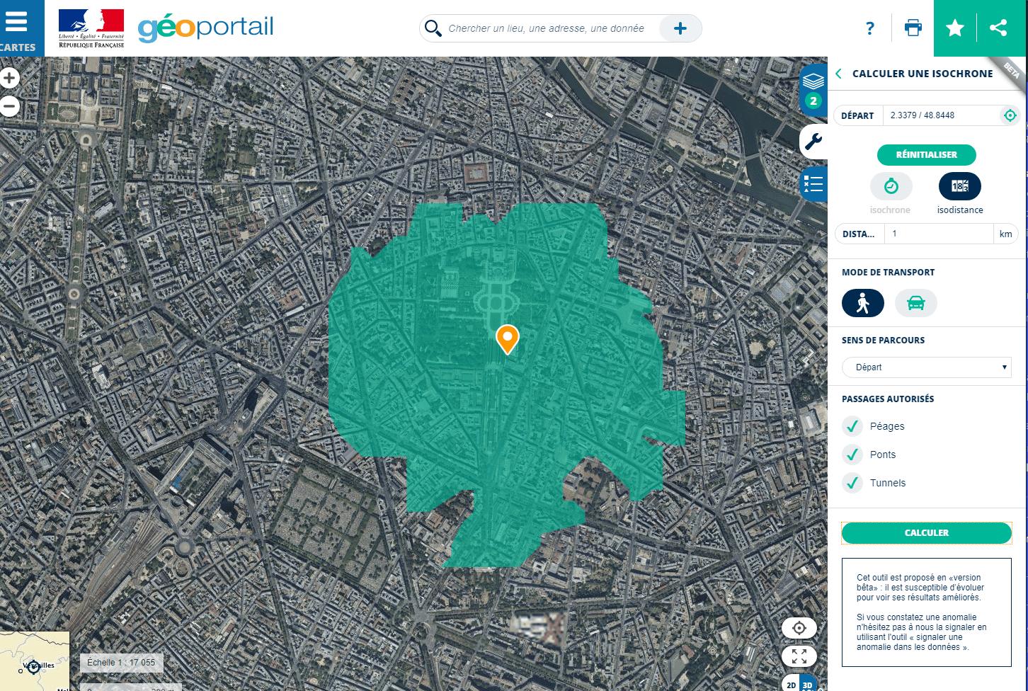 Coronavirus : géoportail, le site qui permet de visualiser la zone à moins d'un kilomètre de chez soi