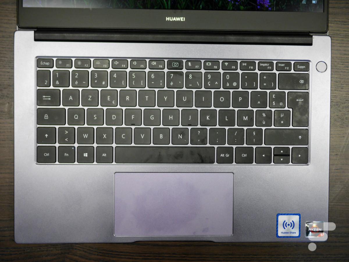 Le clavier du Huawei MateBook D