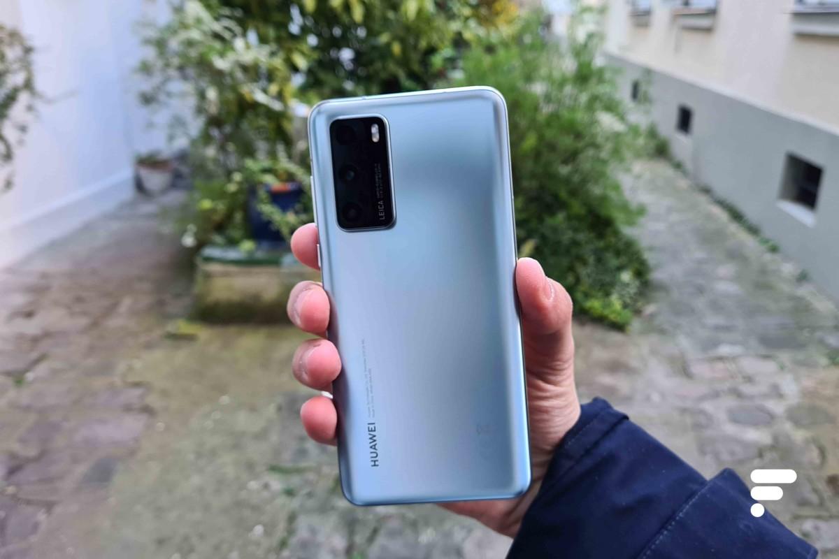 Ici le Huawei P40 Pro, dernier smartphone du géant chinois