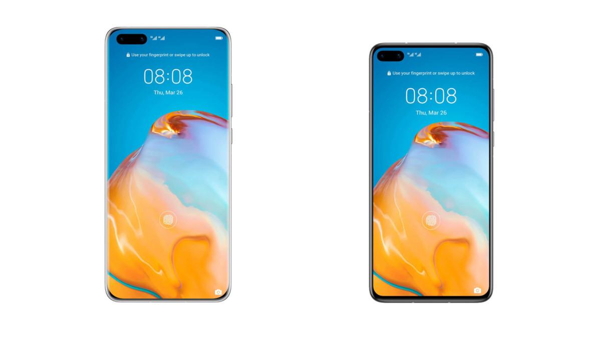 Huawei P40 et P40 Pro en rendus