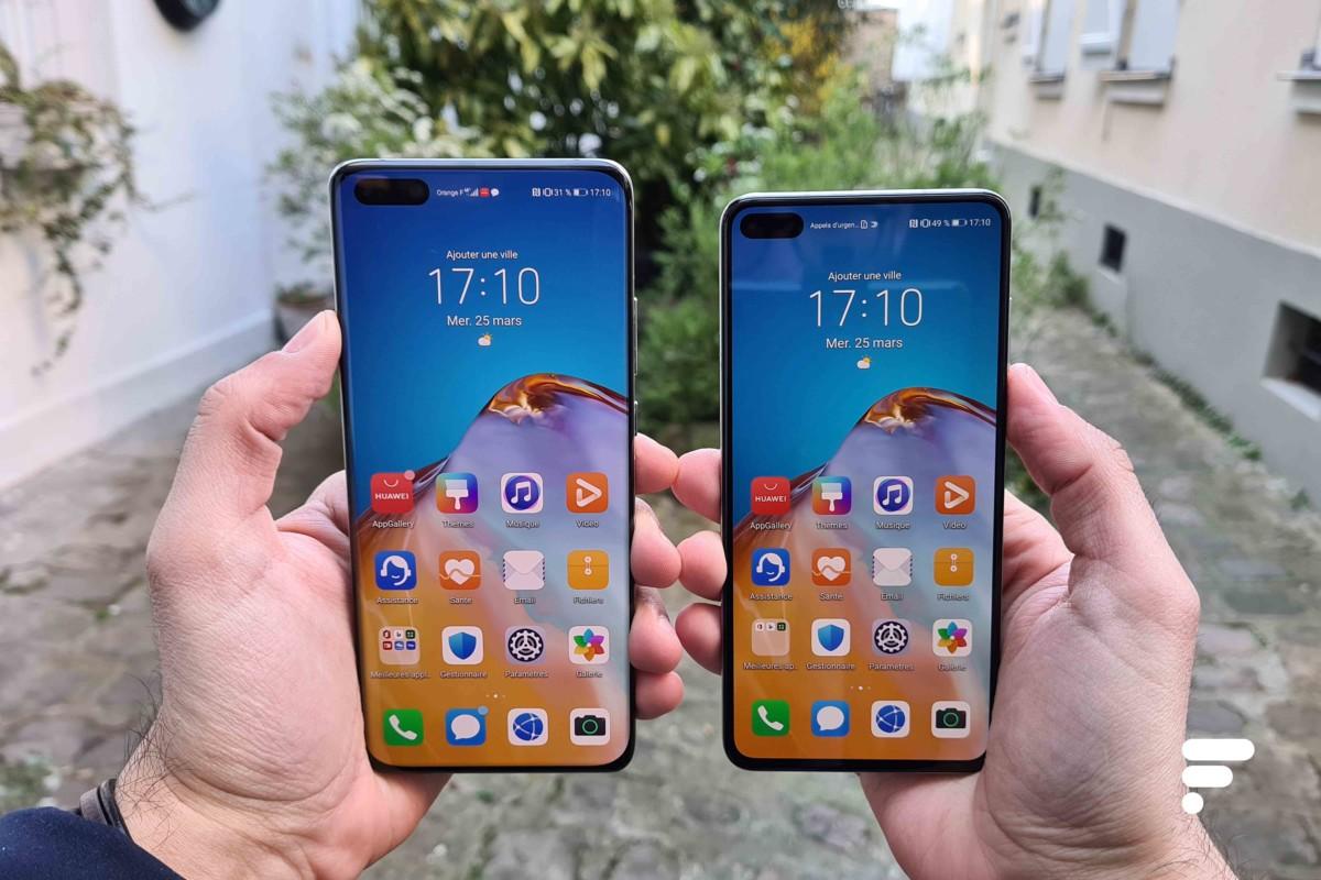 Le Huawei P40 Pro aux côtés du Huawei P40