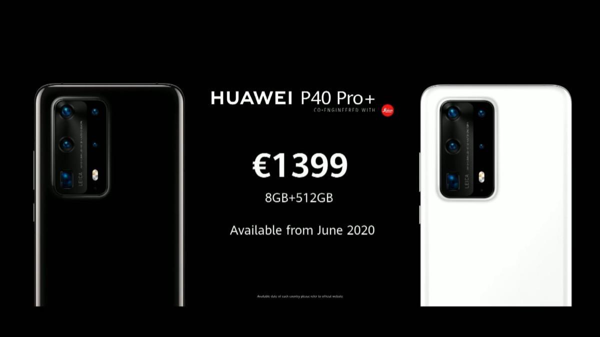 Le prix du Huawei P40 Pro+