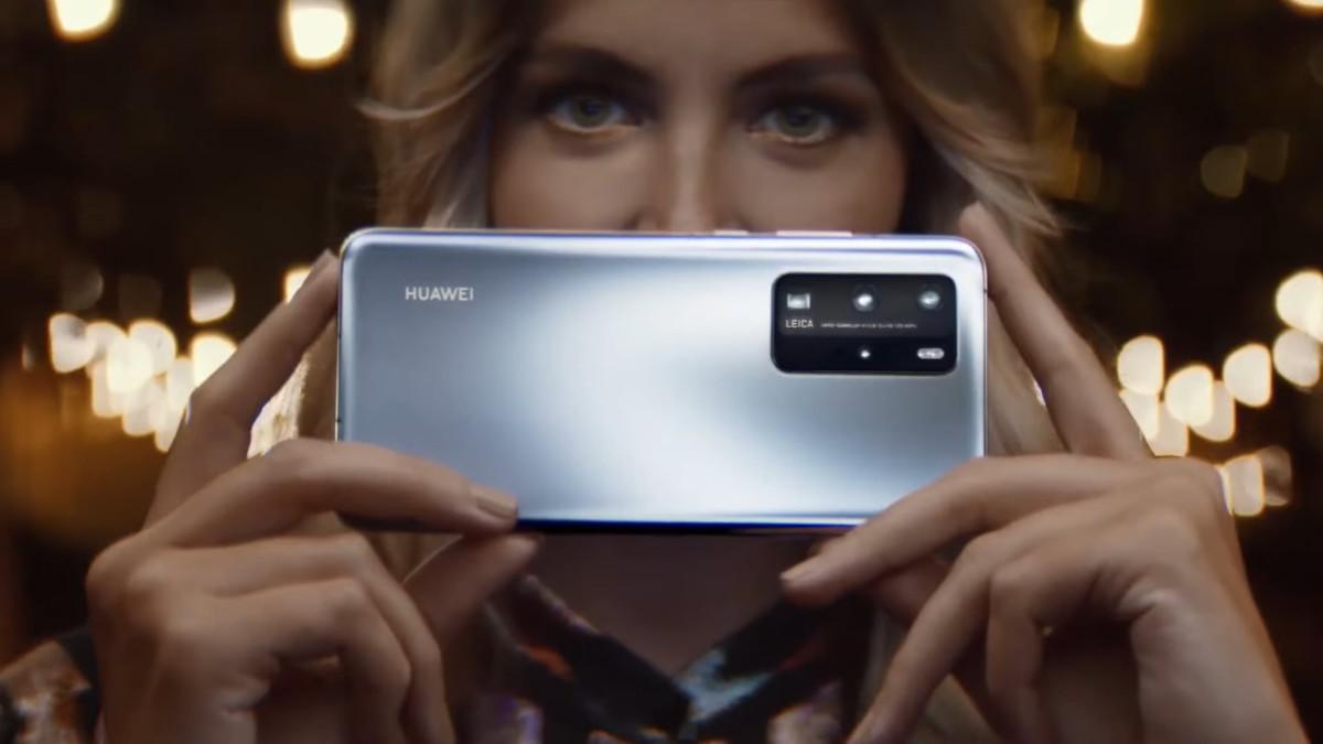 Huawei P40 Pro de dos, publicité
