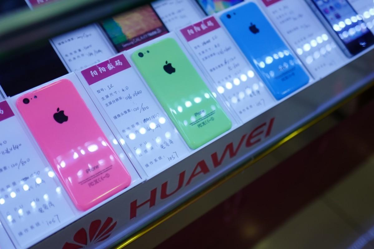 Des clones d'iPhone croisés en 2016 lors de notre escapade à Shenzhen en Chine